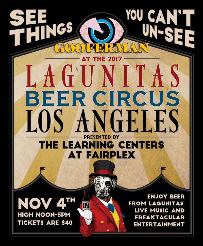 Gooferman plays Lagunitas Beer Circus Los Angeles - November 4, 2017 - Fairplex in Pomona, California